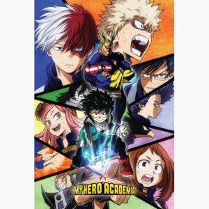 Αφίσες Anime, Animation - My Hero Academia (Characters Mosaic)