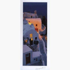 Αφίσες Ελληνικά Τοπία - George Meis Village at Dusk
