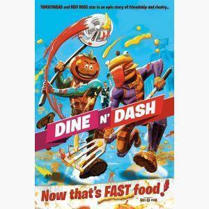 Αφίσες Gaming - Fortnite, Dine N Dash