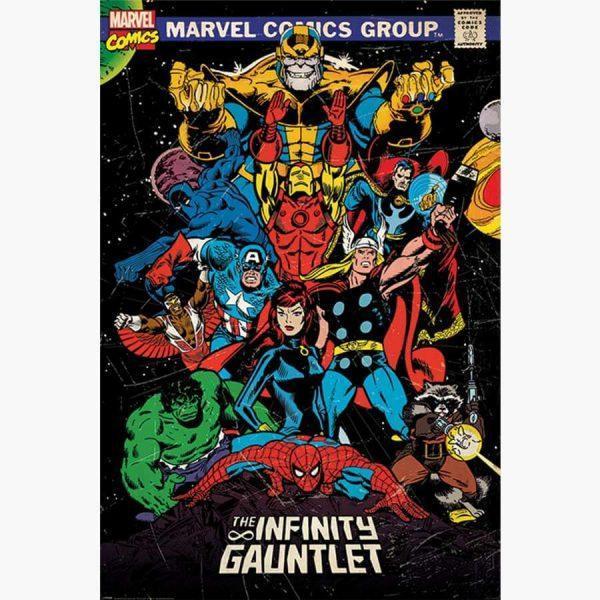 Αφίσες Marvel, Dc, Super Heroes - Marvel Retro (The Infinity Gauntlet)