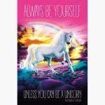 Αφίσες Χιουμοριστικές - Unicorn, Always be yourself