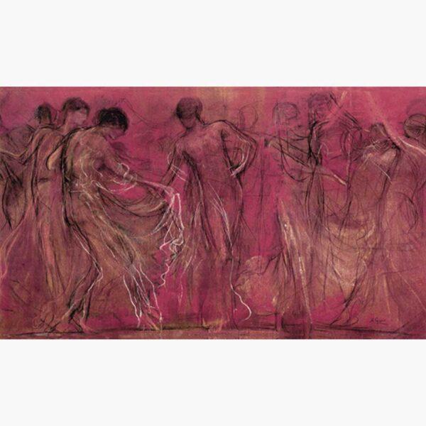 Αναπαραγωγές Ελλήνων Ζωγράφων σε Καμβά - Γύζης Νικόλαος, Χορός των μουσών