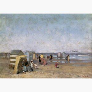 Αναπαραγωγές Ελλήνων Ζωγράφων σε Καμβά - Πανταζής, Στην παραλία