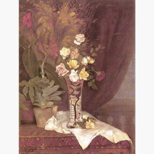 Αναπαραγωγές Ελλήνων Ζωγράφων σε Καμβά - Πανταζής, Λουλούδια