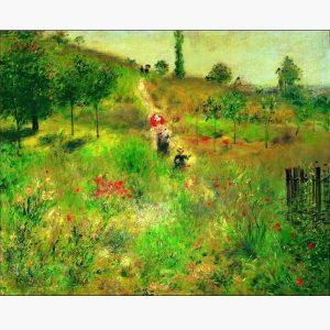Αντίγραφα Ξένων Ζωγράφων - A. Renoir - chemin montant dans les hautes herbes