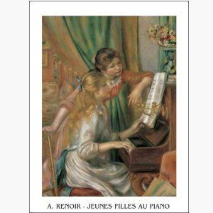 Αντίγραφα Ξένων Ζωγράφων - A. Renoir - Jeunes Filles Au Piano