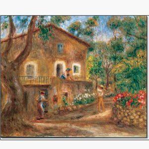 Αντίγραφα Ξένων Ζωγράφων - A. Renoir - la maison de colette a cagnes