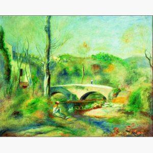 Αντίγραφα Ξένων Ζωγράφων - A. Renoir - paysage avec pont