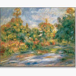 Αντίγραφα Ξένων Ζωγράφων - A. Renoir - paysage avec riviere