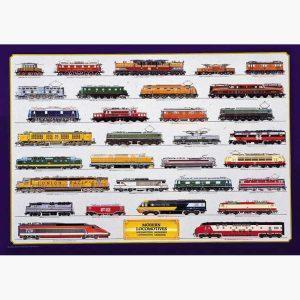 Εκπαιδευτικές Αφίσες - Modern Locomotives