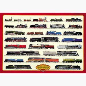 Εκπαιδευτικές Αφίσες - Steam Locomotives
