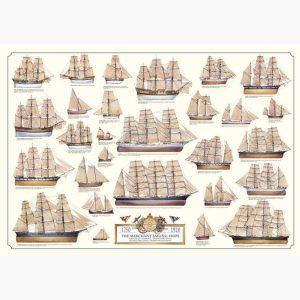 Εκπαιδευτικές Αφίσες - The Merchant Sailing Ships