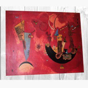 Καμβάς - Ελαιοτυπία - Wassily Kandinsky - Con e Contro 80x100