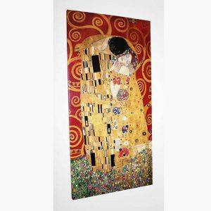 Καμβάς - Ελαιογραφία - Gustav Klimt - The Kiss (Red Variation), by Selected Artworks