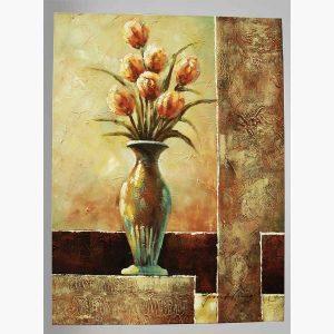 Καμβάς - Βάζο με Λουλούδια