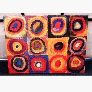 Καμβάς - Ελαιοτυπία - Kandinsky - Farbstudie quadrate