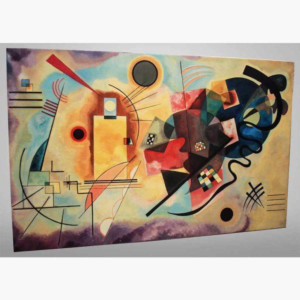 Καμβάς - Ελαιοτυπία - Kandinsky, Giallo, Roso, Blu