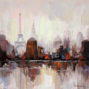 Καμβάς - Παρίσι 80x80