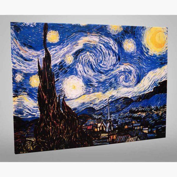 Καμβάς - Ελαιοτυπία - Vincent Van Gogh, La notte stellata