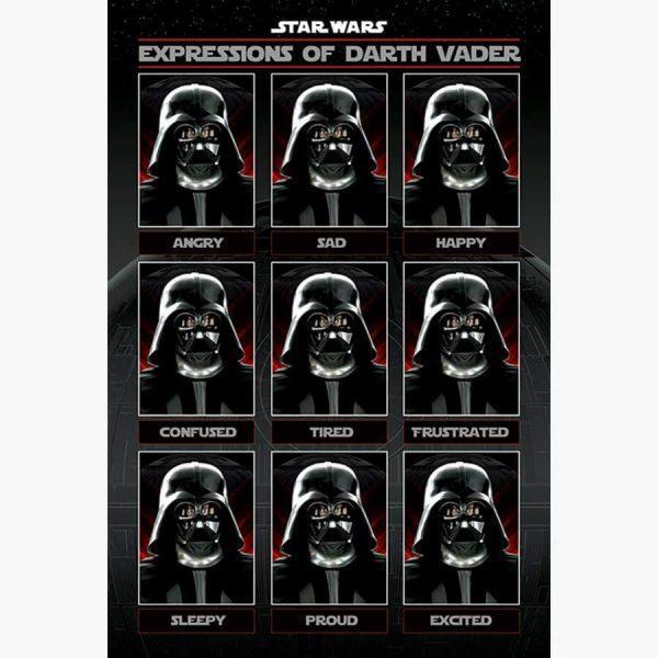 Κινηματογραφικές Αφίσες - Star Wars, Expressions of Darth Vader