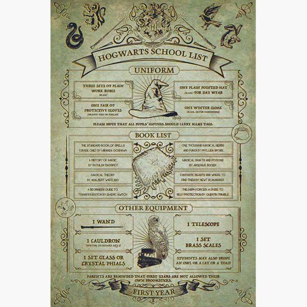 Κινηματογραφικές Αφίσες - Harry Potter (Hogwarts School List)