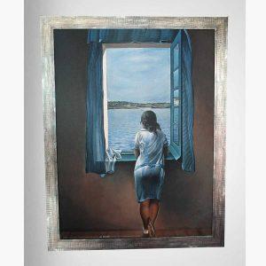 Πίνακας Σαγρέ - Salvador Dali, Woman at the Window