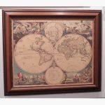 Πίνακας - Σαγρέ Παλιός Χάρτης