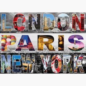 Puzzle - London, Paris, New York