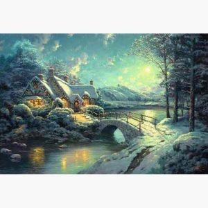 Puzzle - Thomas Kinkade Christmas Moonlight