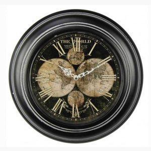 Ρολόι Τοίχου - The World black
