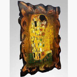 Ξύλινο Κάδρο - Gustav Klimt the kiss