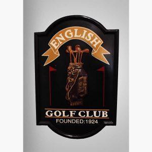 Ξυλόγλυπτοι Πίνακες - English Golf Club