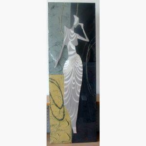 Ξυλόγλυπτοι Πίνακες - Κοπέλα 2